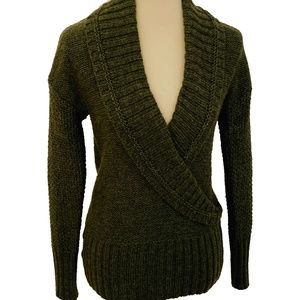 LOFT Deep V-Neck Wool & Alpaca Sweater